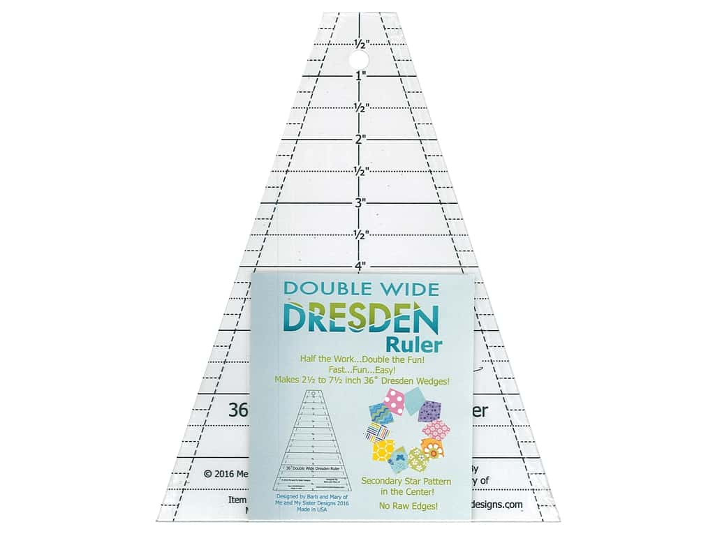 Me And My Sister Double Wide Dresden Ruler