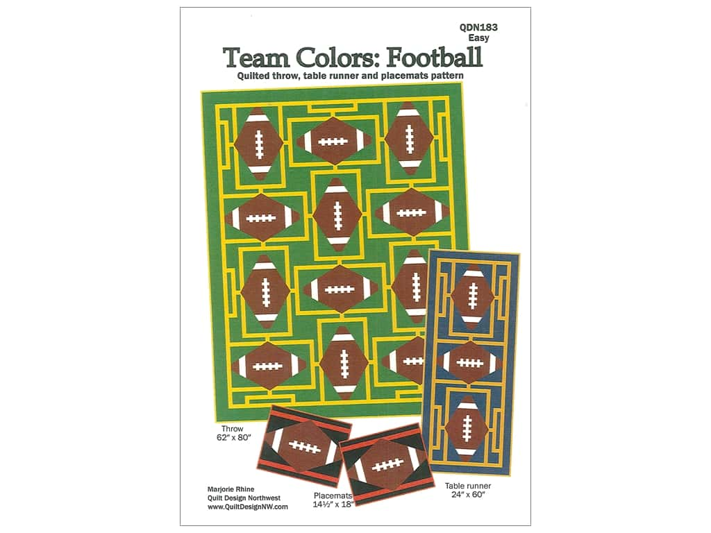Quilt Design Northwest Team Colors Football Pattern