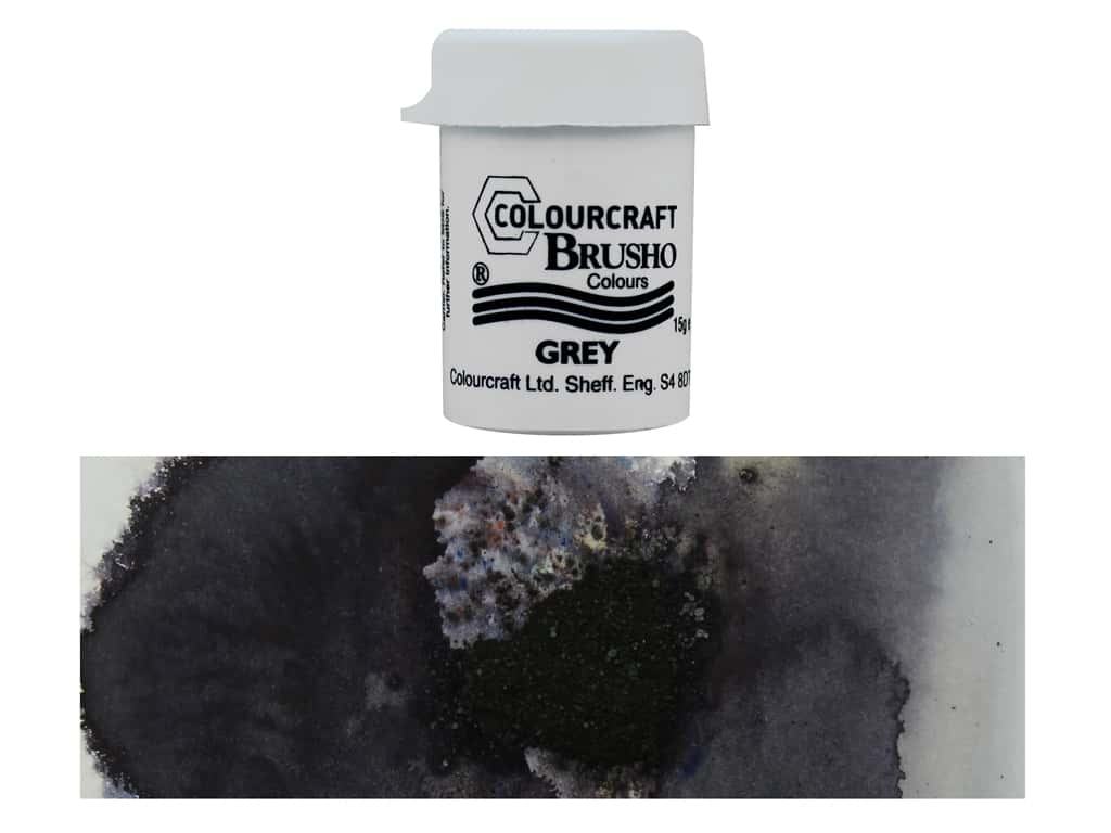 Colourcraft Brusho Crystal Colour 15 gr Grey