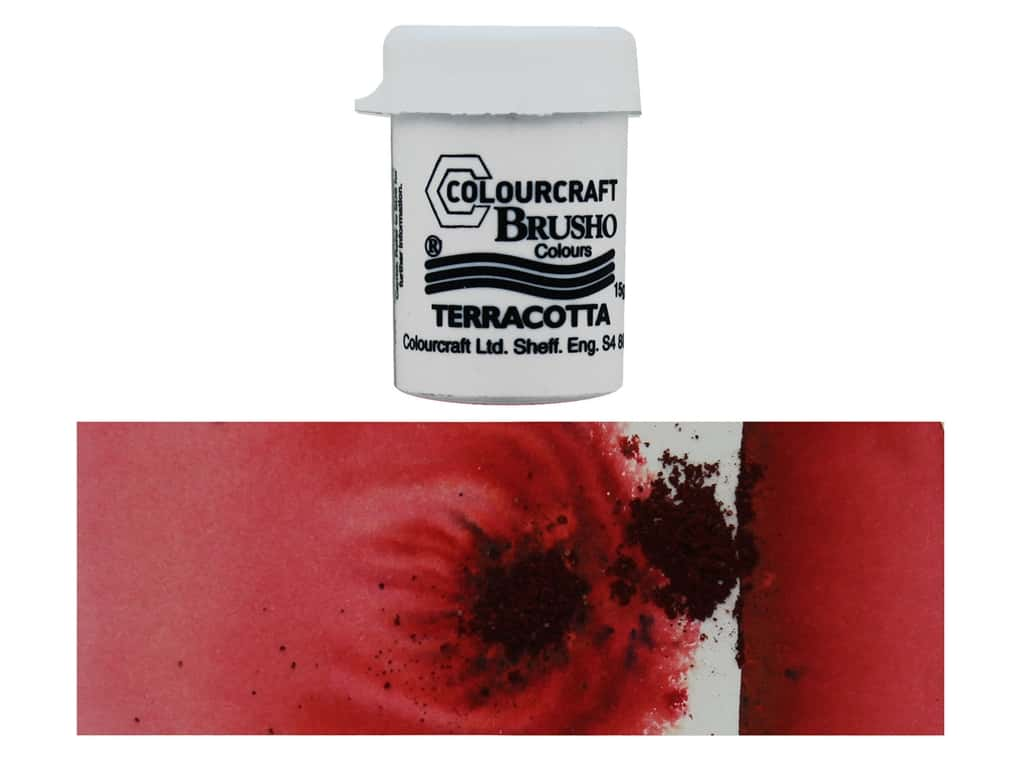 Colourcraft Brusho Crystal Colour 15 gr Terracotta