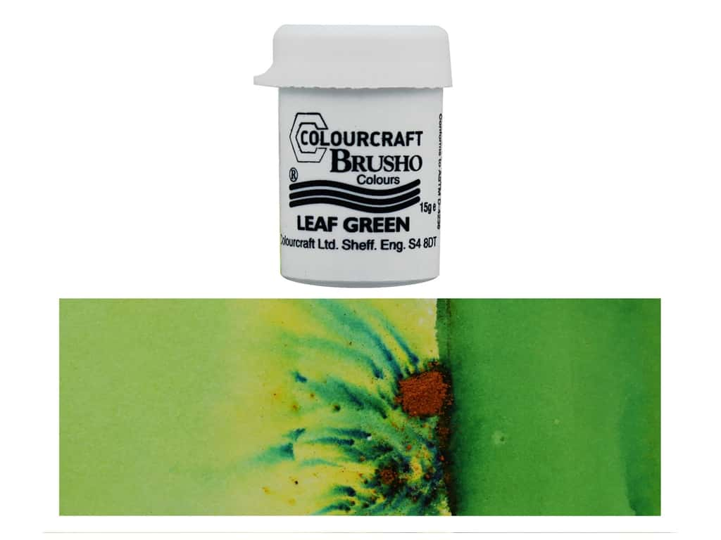 Colourcraft Brusho Crystal Colour 15gr Leaf Green