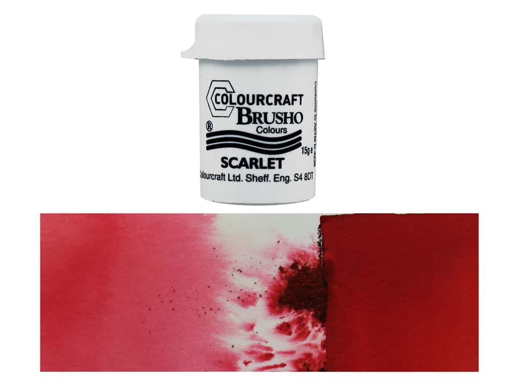 Colourcraft Brusho Crystal Colour 15 gr Scarlet