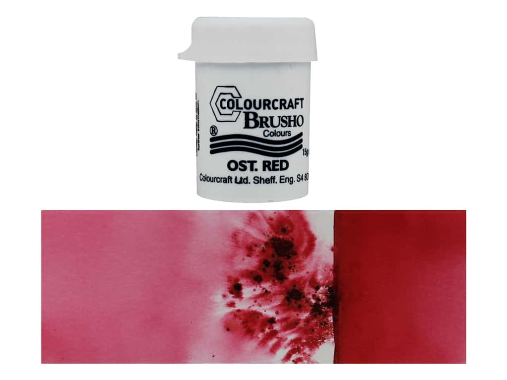 Colourcraft Brusho Crystal Colour 15 gr Ost Red