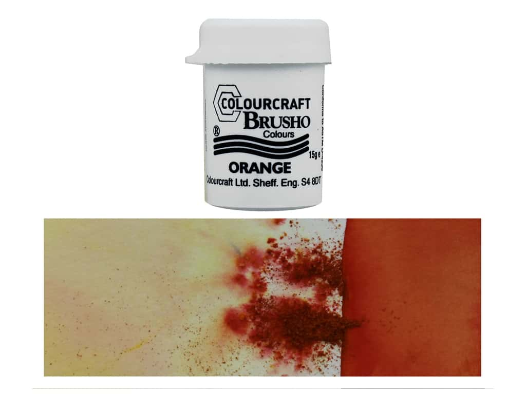 Colourcraft Brusho Crystal Colour 15 gr Orange