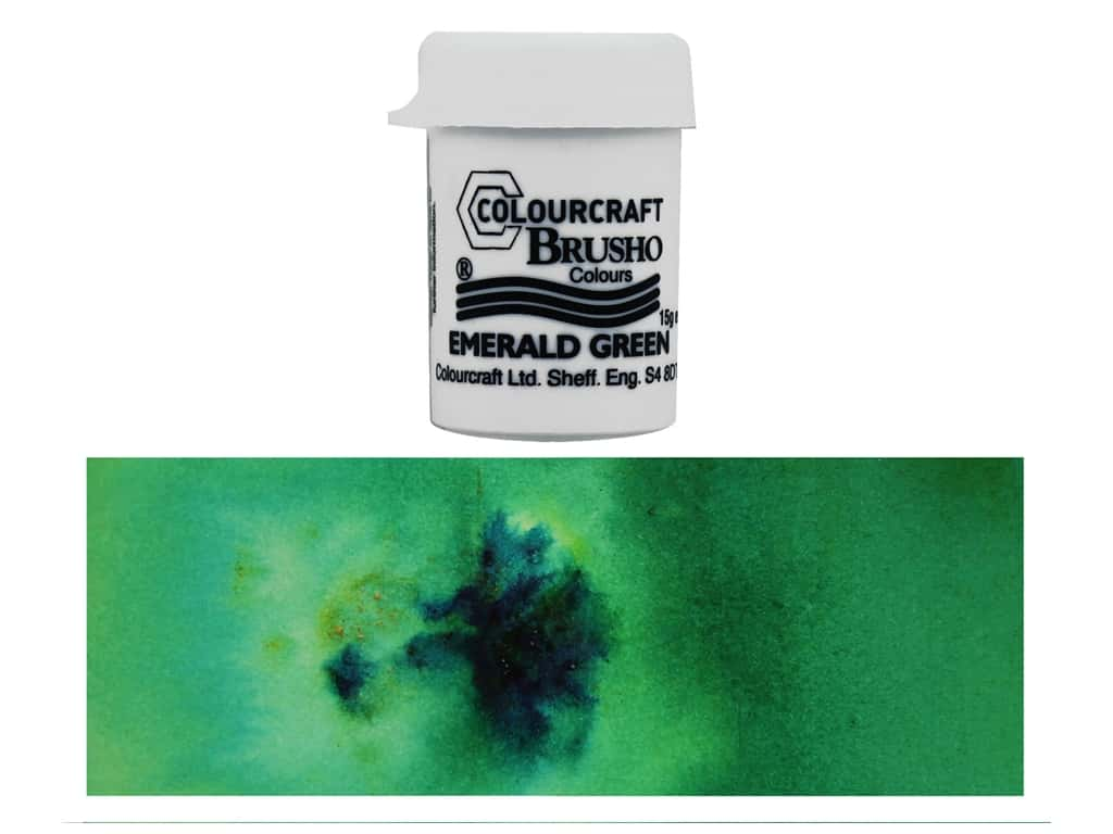 Colourcraft Brusho Crystal Colour 15 gr Emerald Green