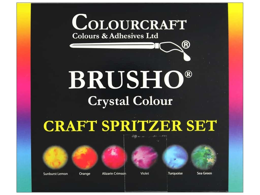 Colourcraft Brusho Crystal Colour Craft Spritzer