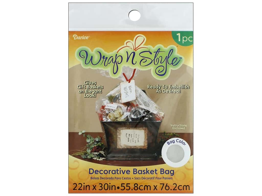 Darice Basket Shrink Bag 22 x 30 in. Clear