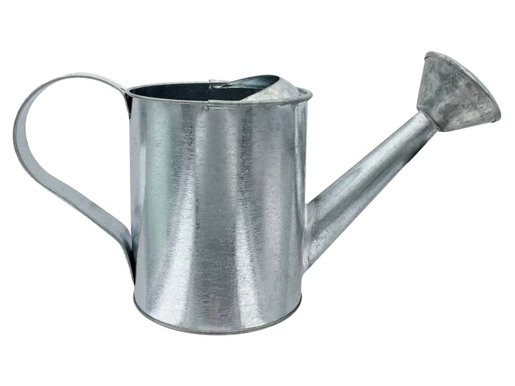 Darice Watering Can Round 5 in. x 10 in. Galvanized