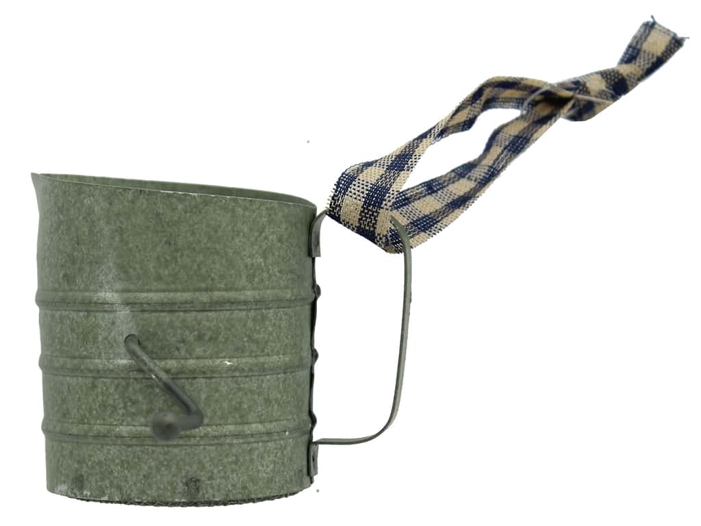 Darice Sifter Tin With Handle 2.25 in.  Grey