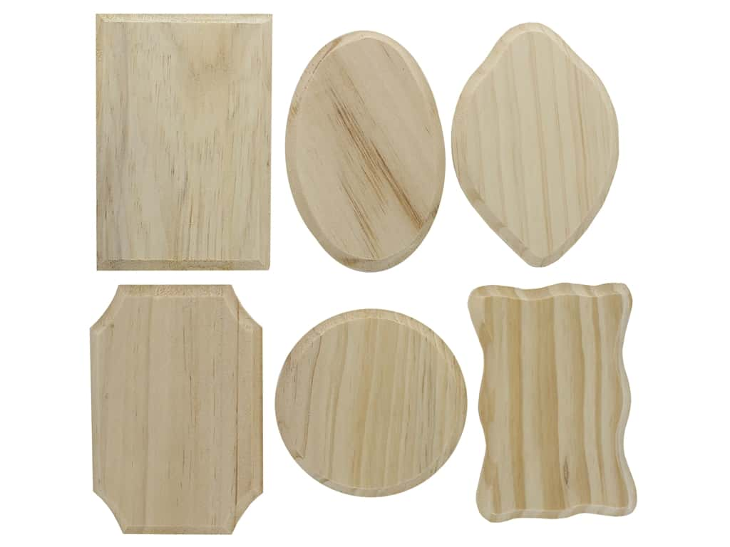 Darice Wood Plaque Unfinished Assorted Small (144 pieces)