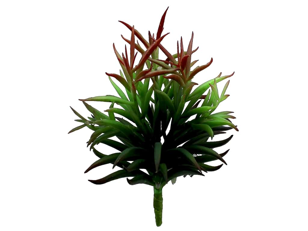 Darice Floral Succulent Everyday 7.5 in.  Green/Burgundy