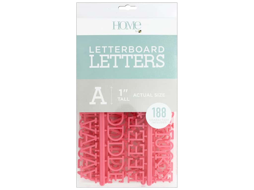 DieCuts With A View Letterboard Letters 1 in.  Coral 188 pc