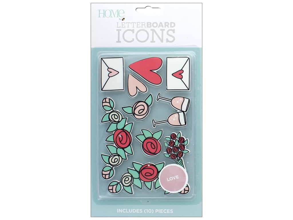 DieCuts With A View With A View Collection Letterboard Icons Love