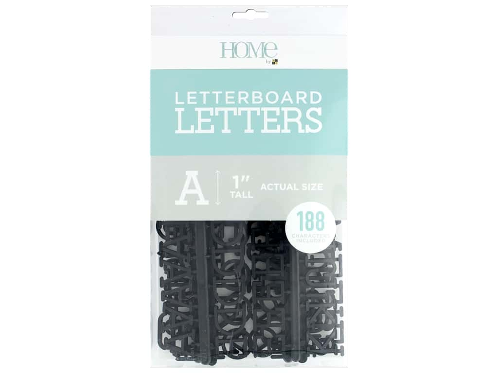 DieCuts With A View Letterboard Letters 1 in.  Black 188 pc