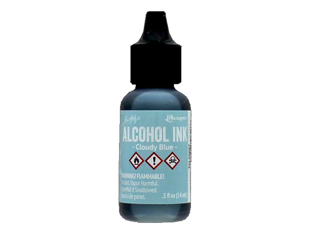 Tim Holtz Alcohol Ink by Ranger .5 oz. Cloudy Blue