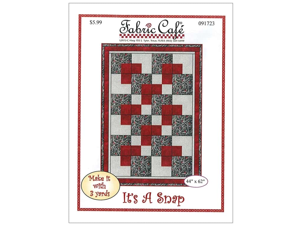 Fabric Cafe It's A Snap 3 Yard Quilt Pattern