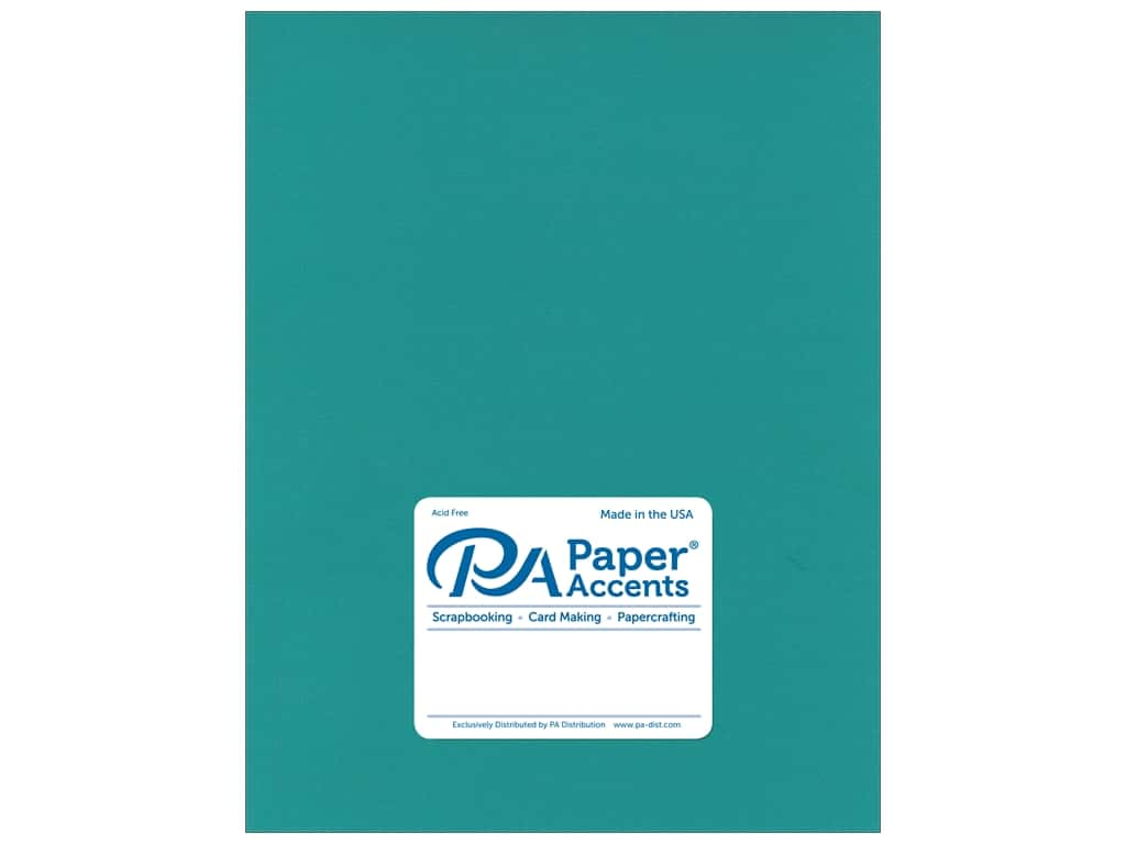 Paper Accents Cardstock 8 1/2 x 11 in. Muslin Caribbean Blue 25 pc.