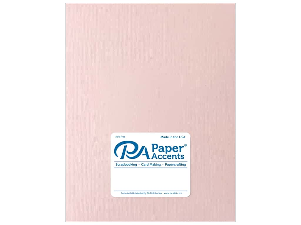 Paper Accents Cardstock 8 1/2 x 11 in. Muslin White Plum 25 pc.