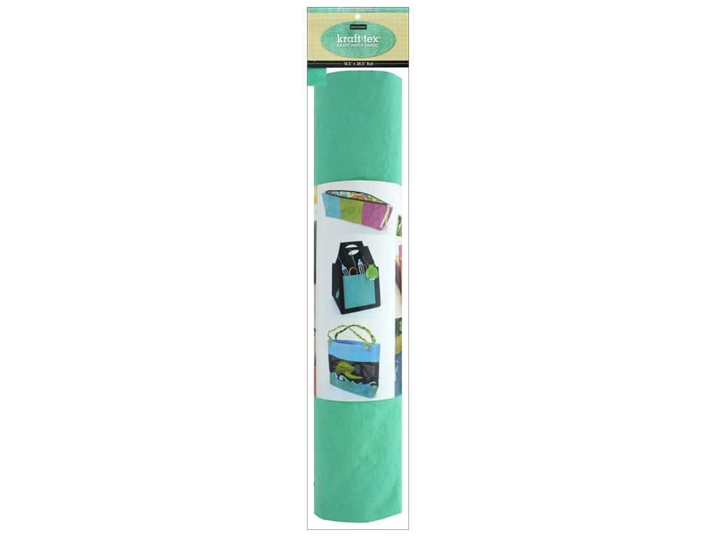 C&T Publishing Kraft Tex Paper Fabric 18.5 in. x 28.5 in. Roll Blue Turquoise