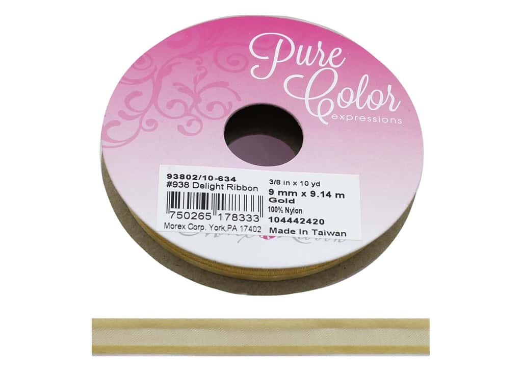 Morex Ribbon Delight 3/8 in. x 10 yd Gold
