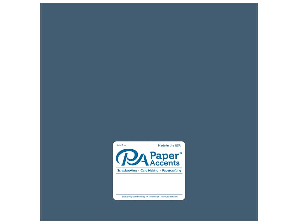 Paper Accents Cardstock 12 x 12 in. #18040 Smooth Blue Odyssey 25 pc.