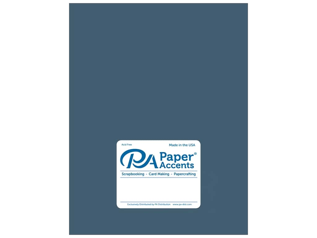 Paper Accents Cardstock 8 1/2 x 11 in. #18040 Smooth Blue Odyssey 25 pc.