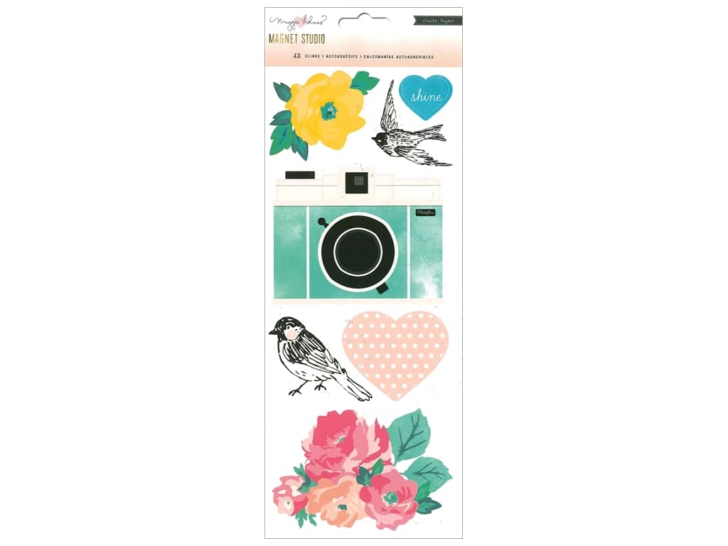 Crate Paper Maggie Holmes Magnet Studio Cling Vinyl Accents