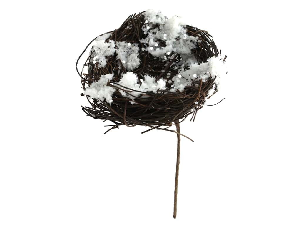 Darice Christmas Vine Frosted Nest Pick