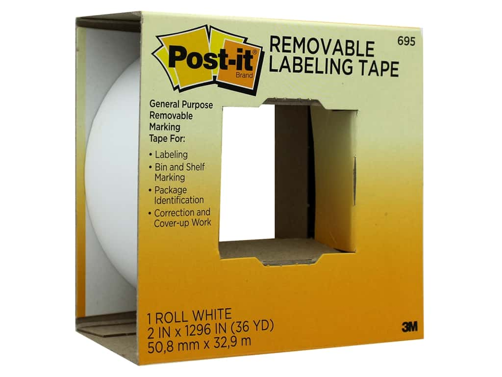 Post-It Note Removable Labeling Tape 2 in. x 36 yd. White