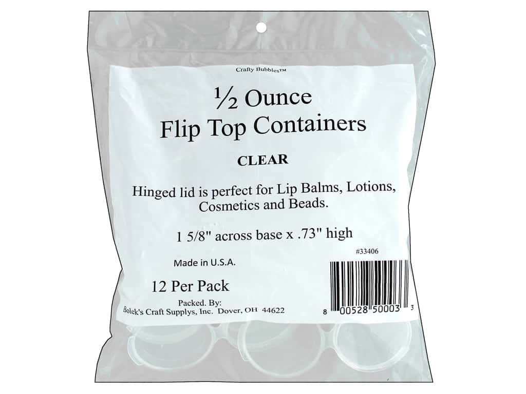 Crafty Bubbles Container Flip Top .44 oz 12 pc
