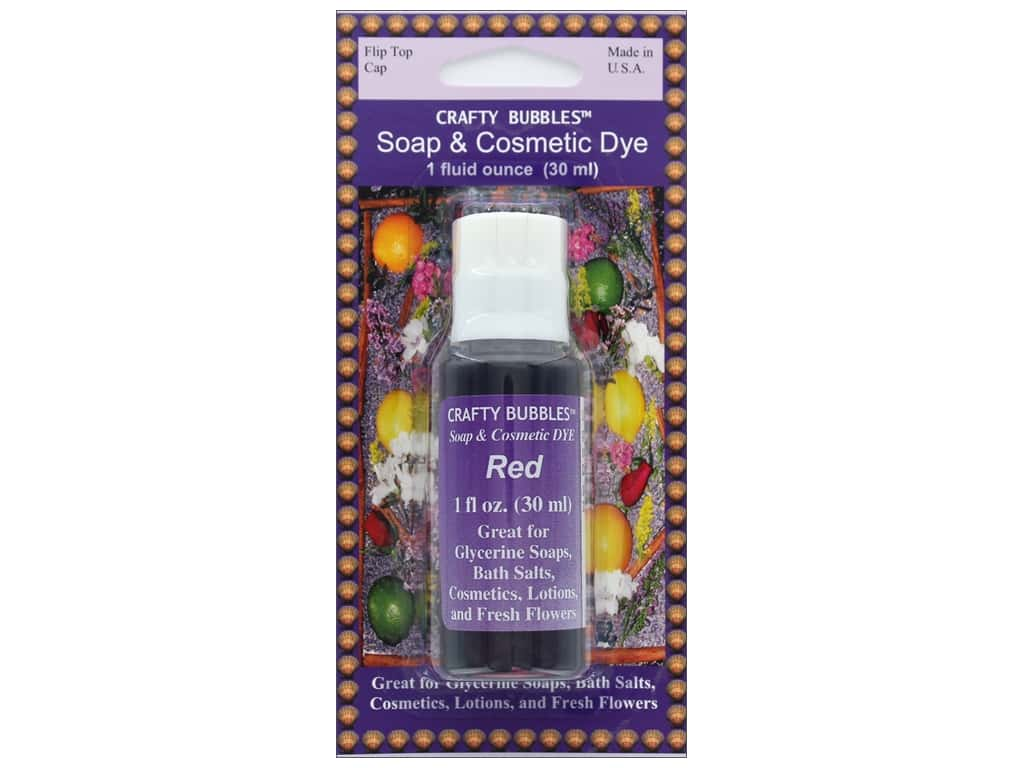 Crafty Bubbles Soap & Cosmetic Dye 1 oz Red