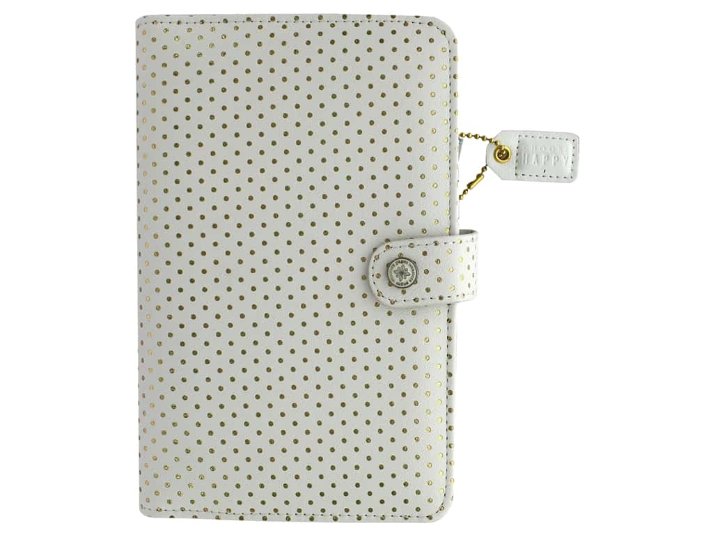 Webster's Pages Color Crush Planner Kit Personal Gold Dot Book Wrap
