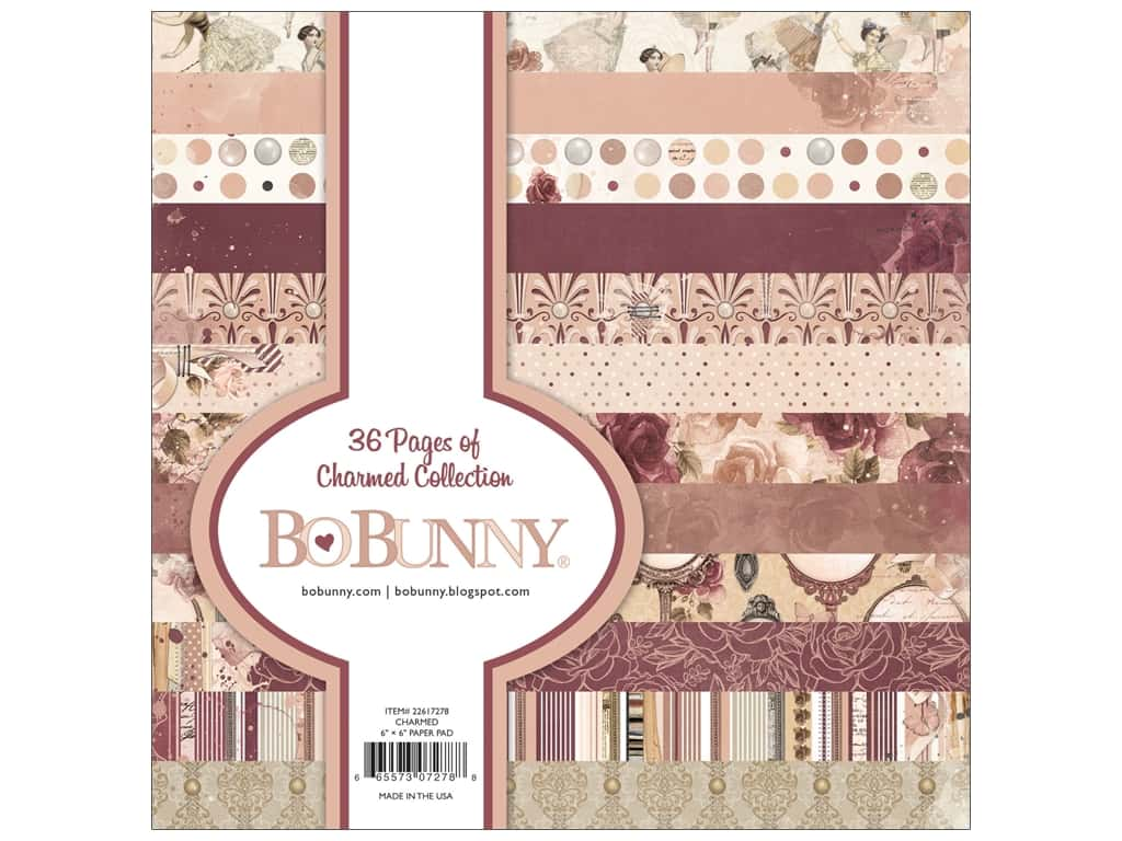 Bo Bunny Collection Charmed Paper Pad 6 in. x 6 in.