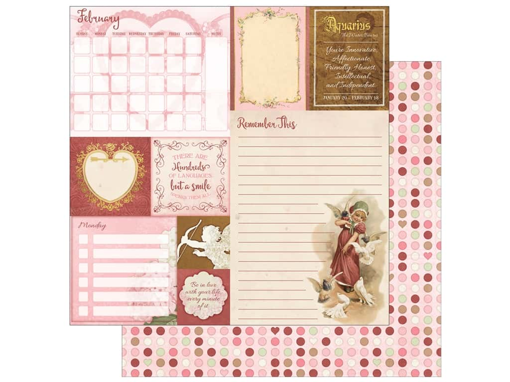 Bo Bunny On This Day Paper 12 in. x 12 in.   February (25 pieces)