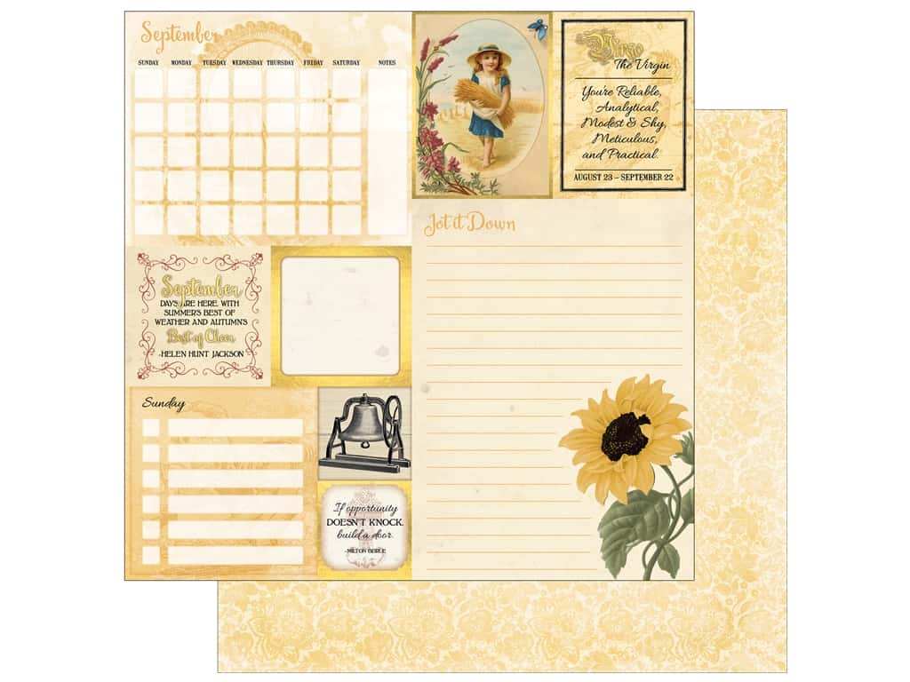 Bo Bunny On This Day Paper 12 in. x 12 in.  September (25 pieces)