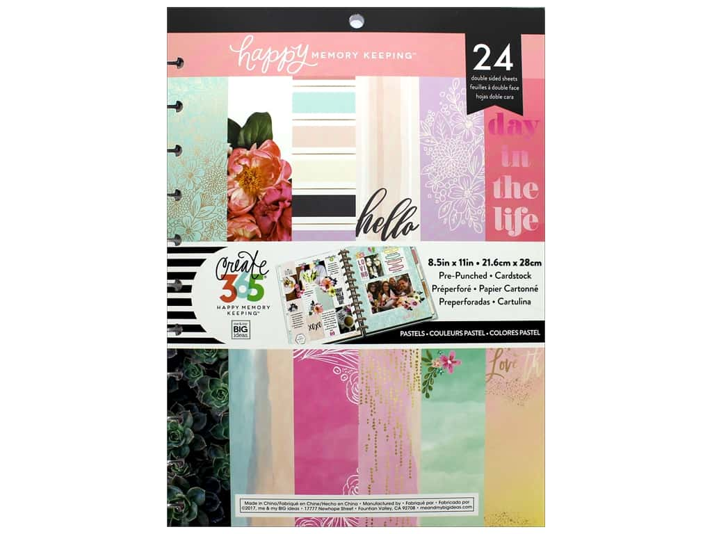 Me&My Big Ideas Collection Create 365 Happy Memory Keeping Paper Pad Big Pastel