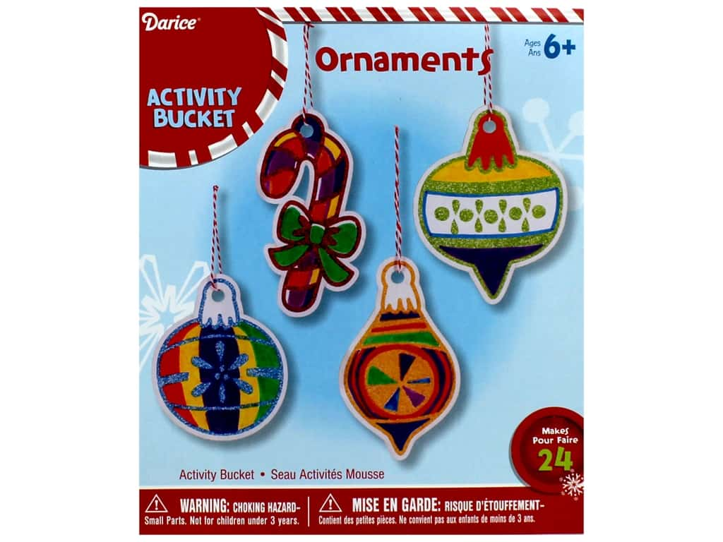 Darice Ornaments Paper Color In With Mini Markers