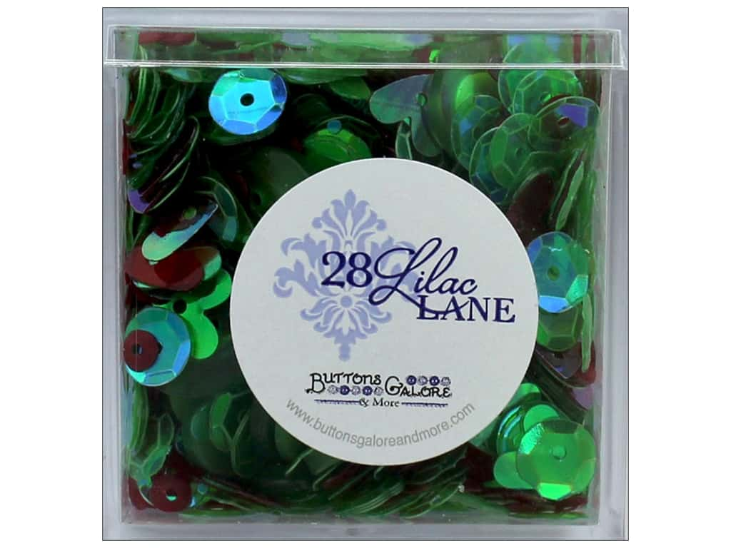 Buttons Galore 28 Lilac Lane Shaker Mix Holiday Wreath