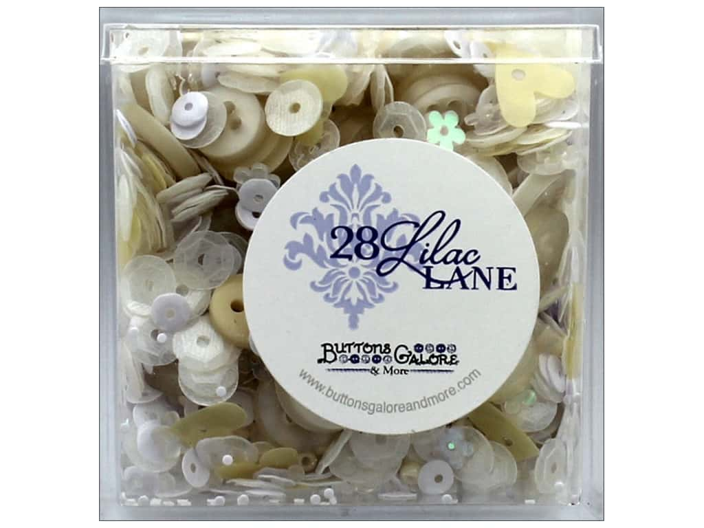 Buttons Galore 28 Lilac Lane Shaker Mix Pearls & Lace