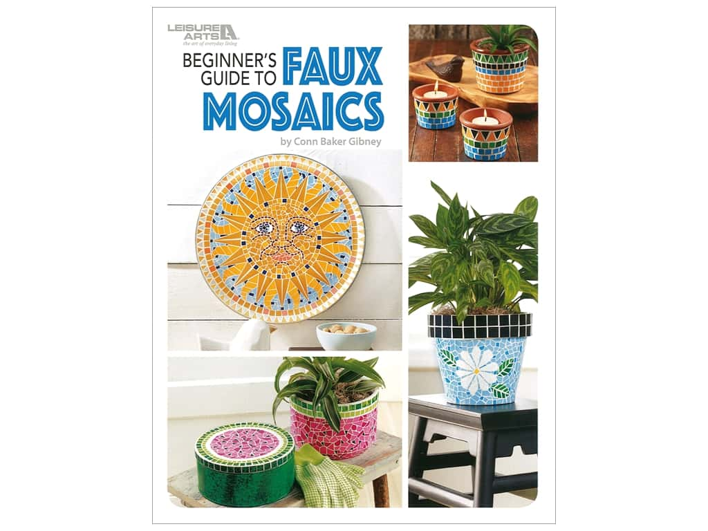 Leisure Arts Beginners Guide to Faux Mosaics Book