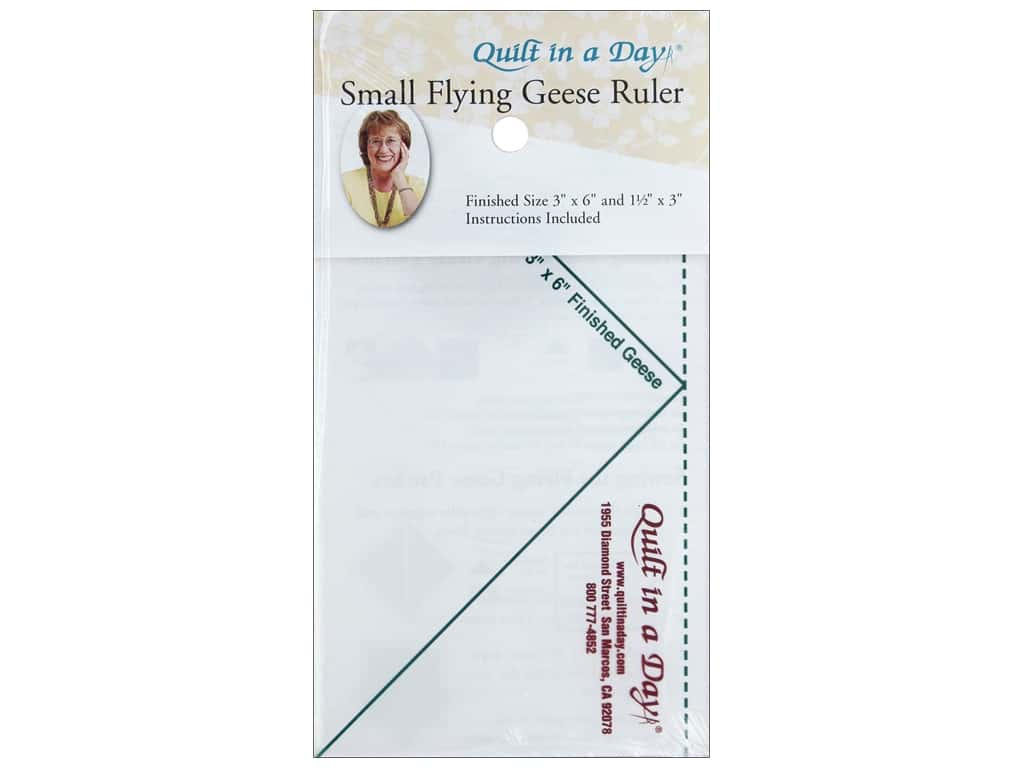 Quilt In A Day Ruler Flying Geese 3 in. x 6 in.