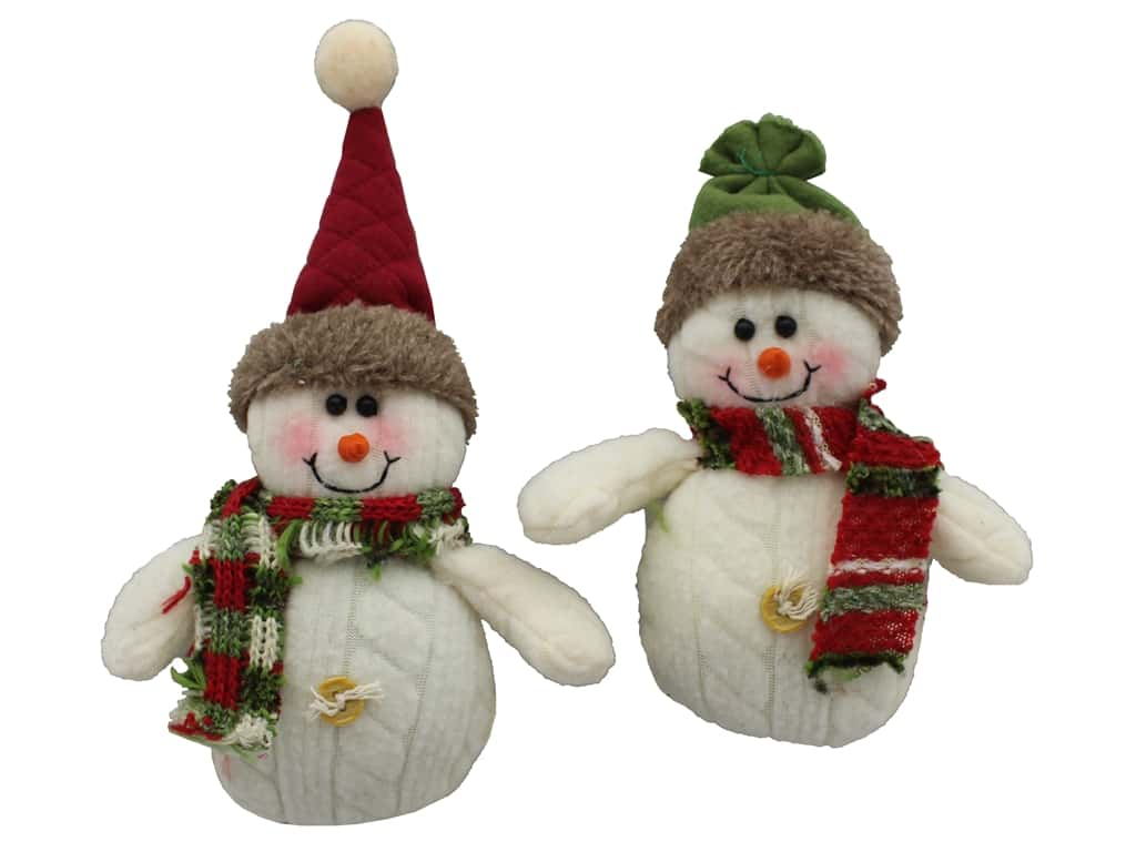 "Darice Ornament 5"" Snowman with Hat & Scarf Assorted (12 pieces)"