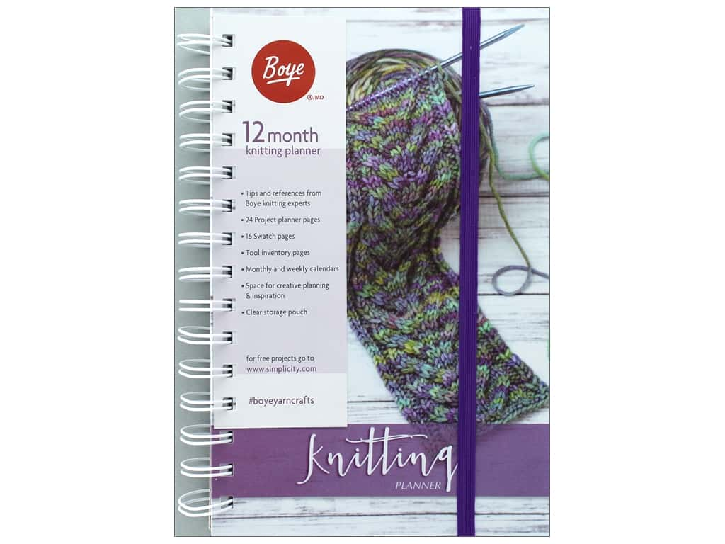 Boye 12 Month Planner Knitting