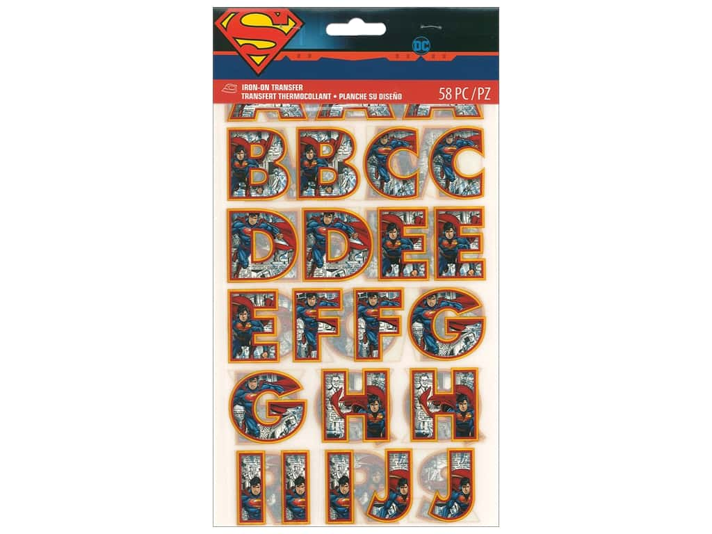 Simplicity Iron On Transfer Superman Letters