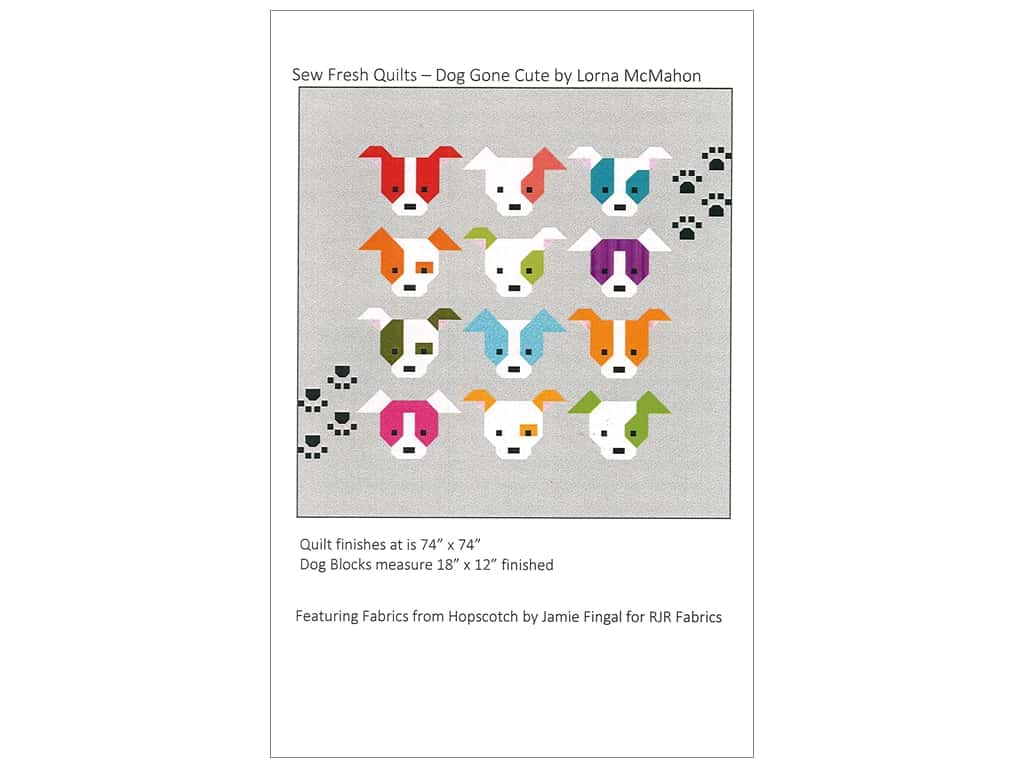Sew Fresh Quilts Big Dog Gone Cute Pattern