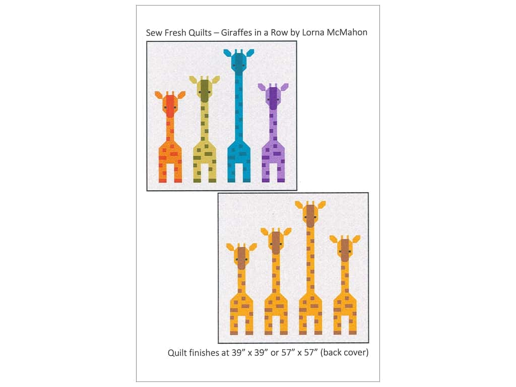 Sew Fresh Quilts Giraffes In A Row Pattern