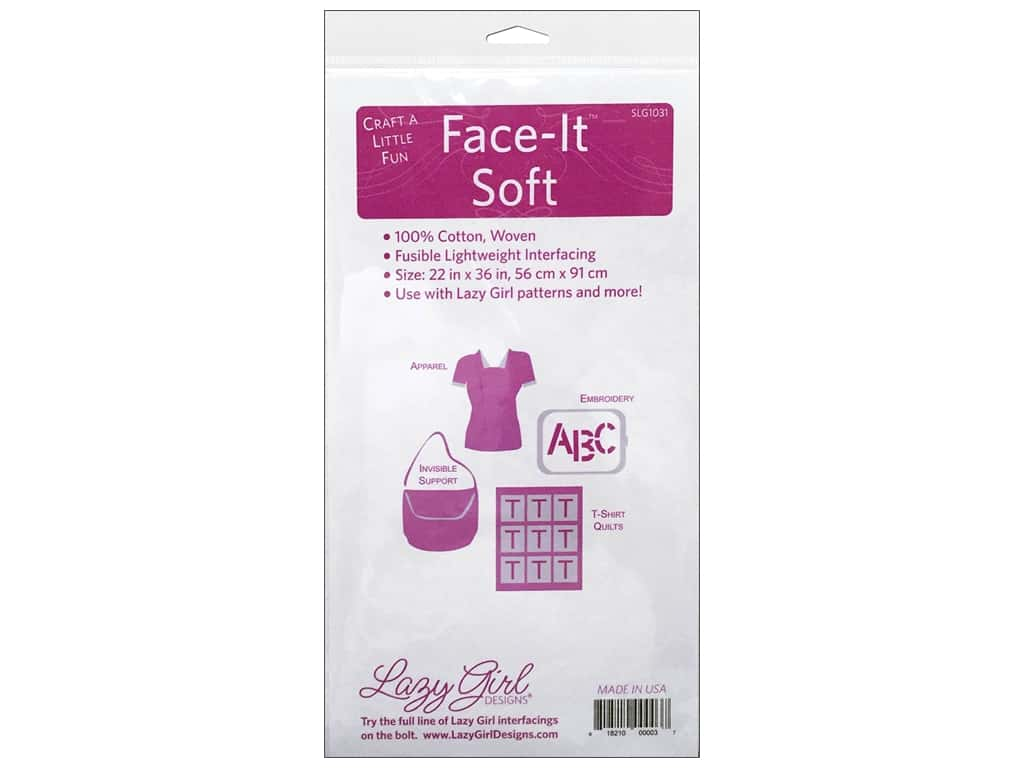 Lazy Girl Face It Soft Interfacing 22 x 36 in.