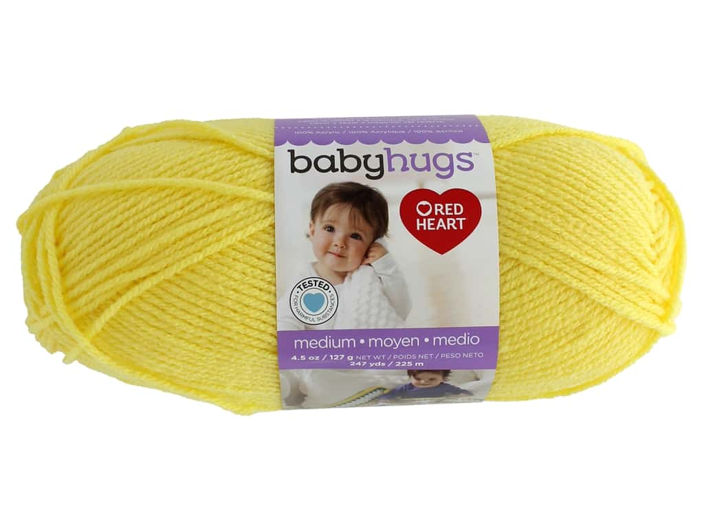 Red Heart Baby Hugs Medium Yarn 247 yd. #4201 Sunny