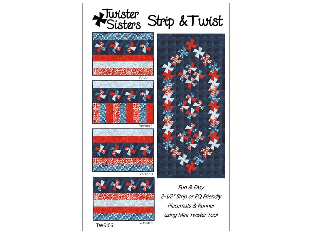 Twister Sisters Strip & Twist Pattern
