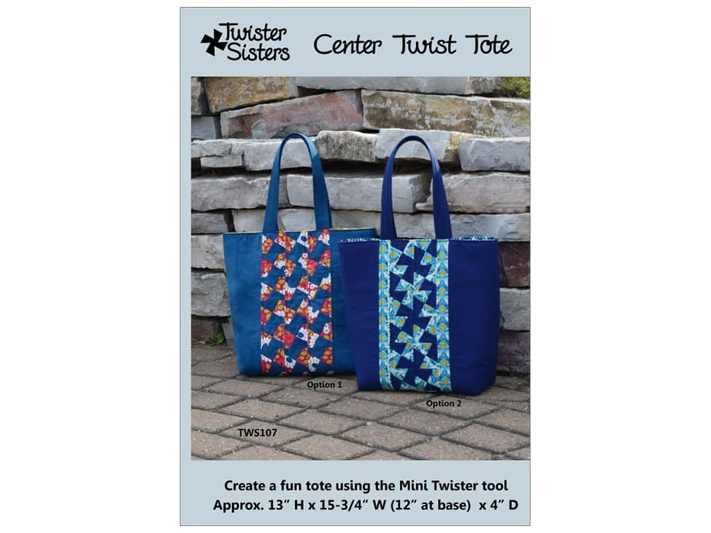 Twister Sisters Center Twist Tote Pattern